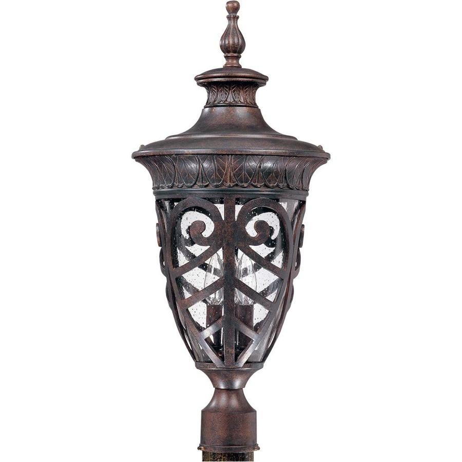 13.11-in W Dark Plum Bronze Outdoor Flush-Mount Light