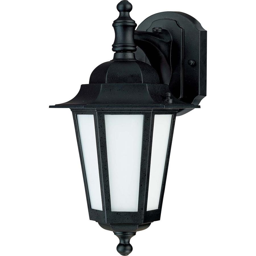 13.12-in H Textured Black Outdoor Wall Light