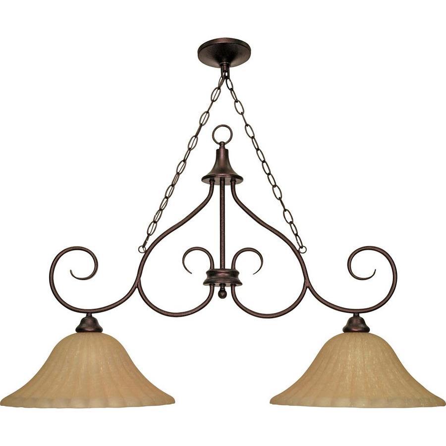 Moulan 16-in 2-Light Copper Bronze Linear Chandelier