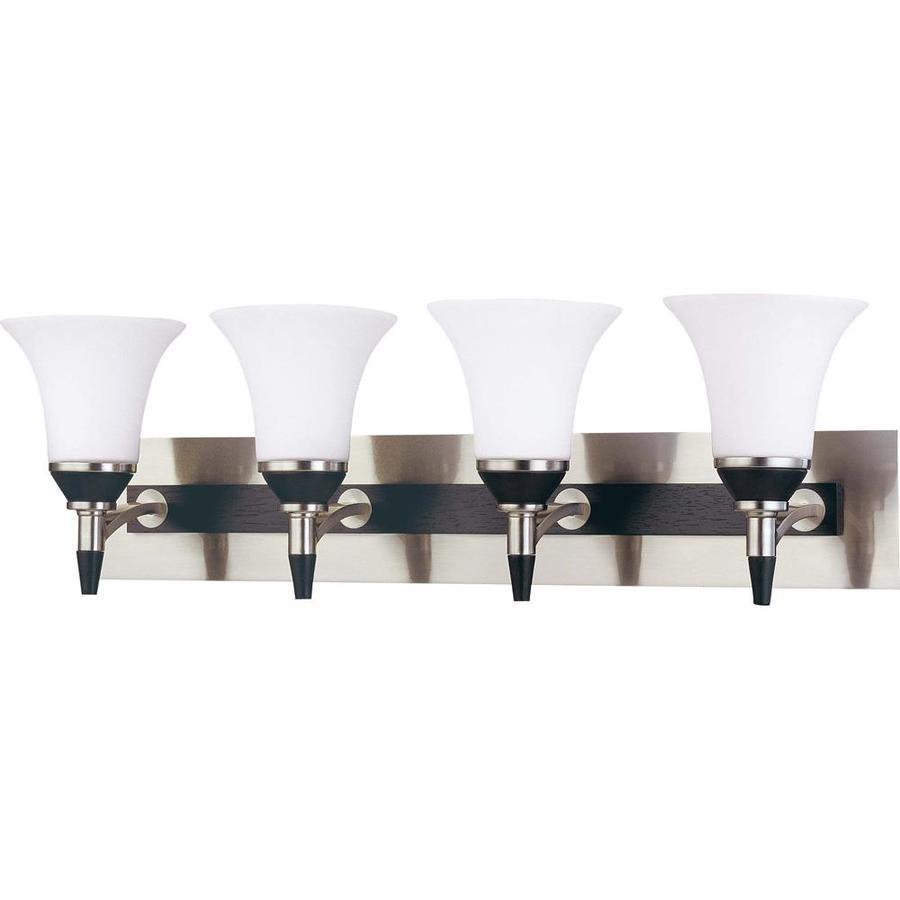 Shop Keen 4-Light Nickel and Black Vanity Light at Lowes.com