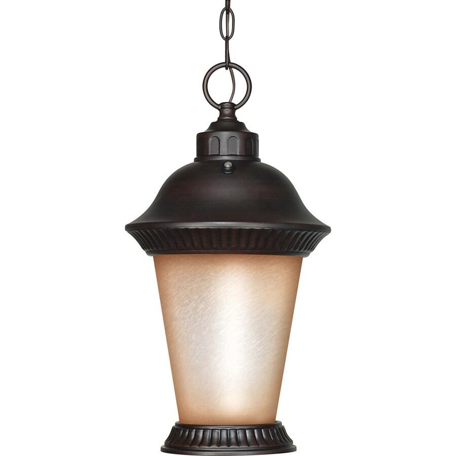 11.15-in W Chestnut Bronze Outdoor Flush-Mount Light