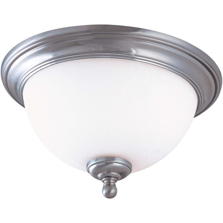 11-in W Brushed Nickel Ceiling Flush Mount Light