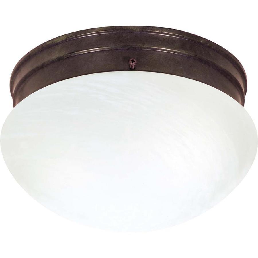 9.5-in W Old Bronze Ceiling Flush Mount Light