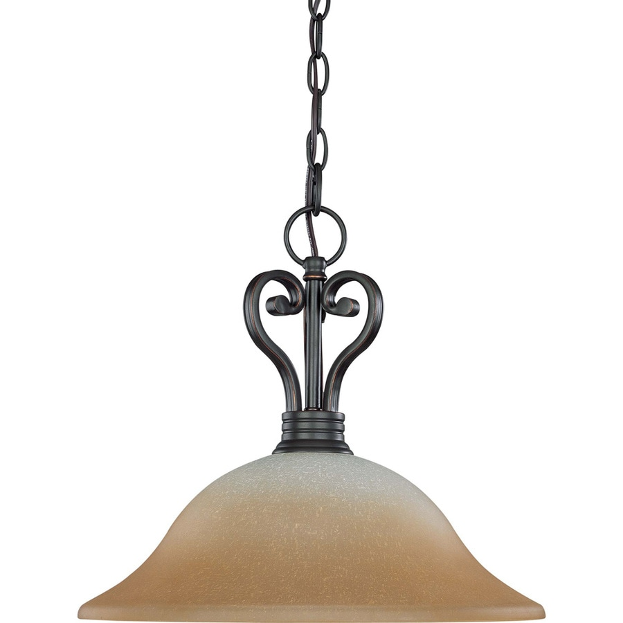 Montgomery 17.75-in Sudbury Bronze Mini Tinted Glass Pendant