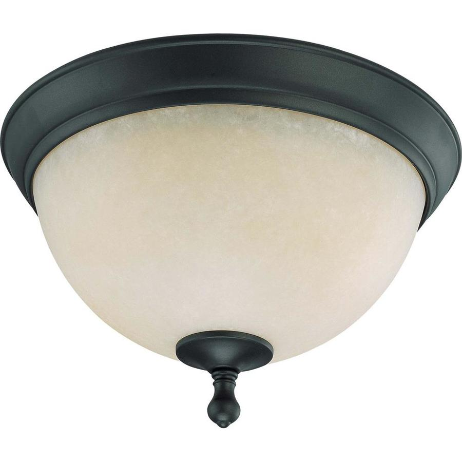 13.5-in W Aged Bronze Ceiling Flush Mount Light