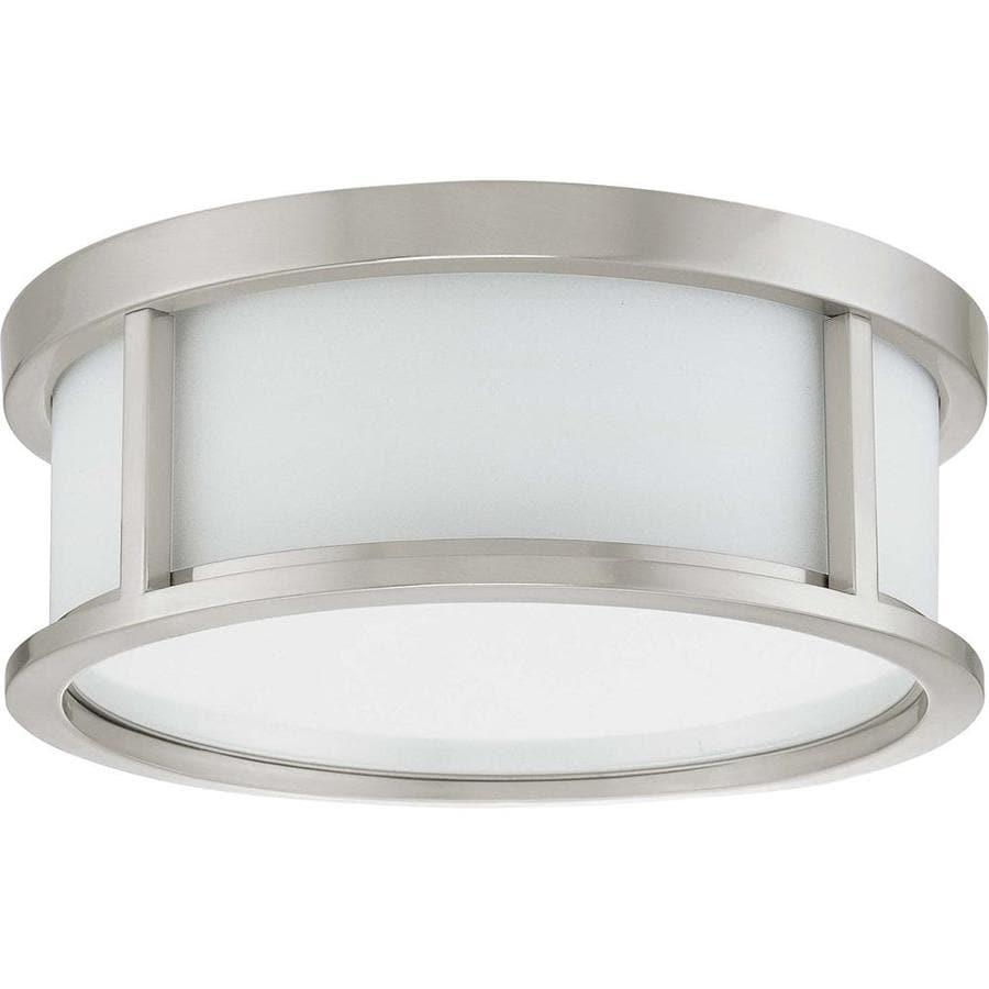 13.12-in W Brushed Nickel Ceiling Flush Mount Light