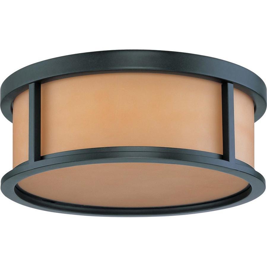 17-in W Aged Bronze Ceiling Flush Mount Light
