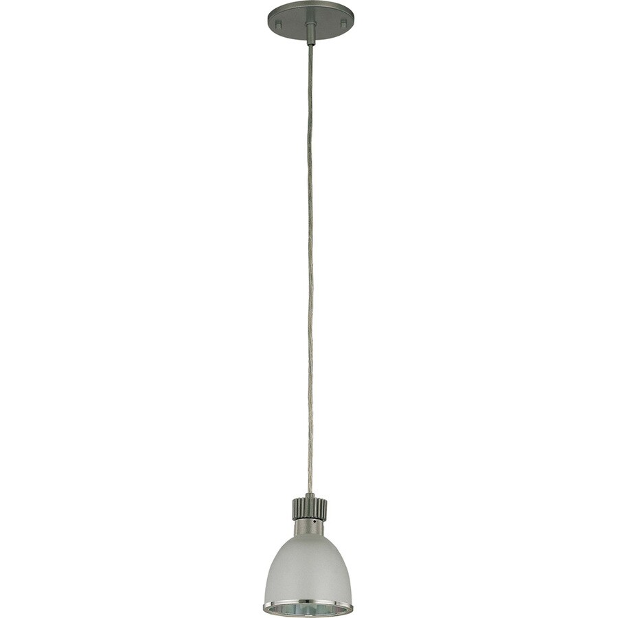 Robo 15-in Gunmetal Grey Mini Clear Glass Pendant