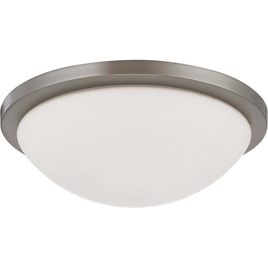 13.37-in W Brushed Nickel Ceiling Flush Mount Light