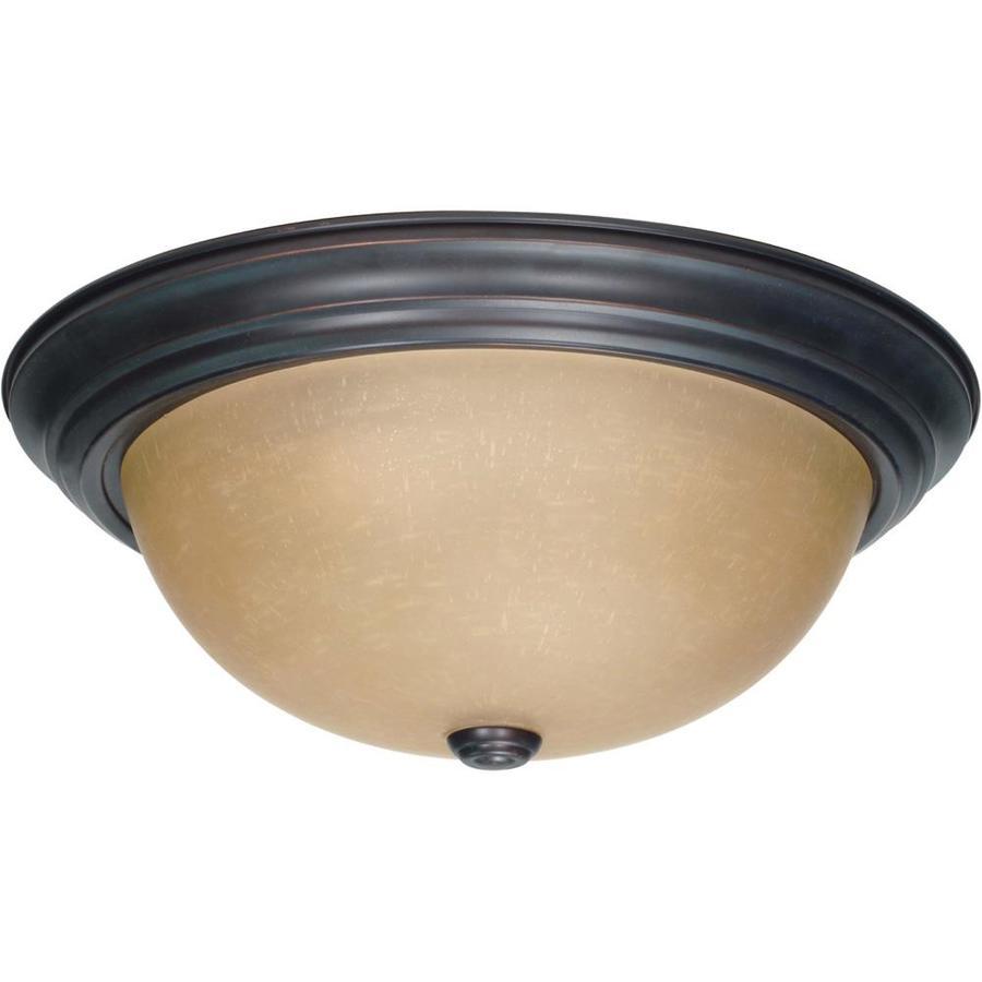 15.25-in W Mahogany Bronze Ceiling Flush Mount Light