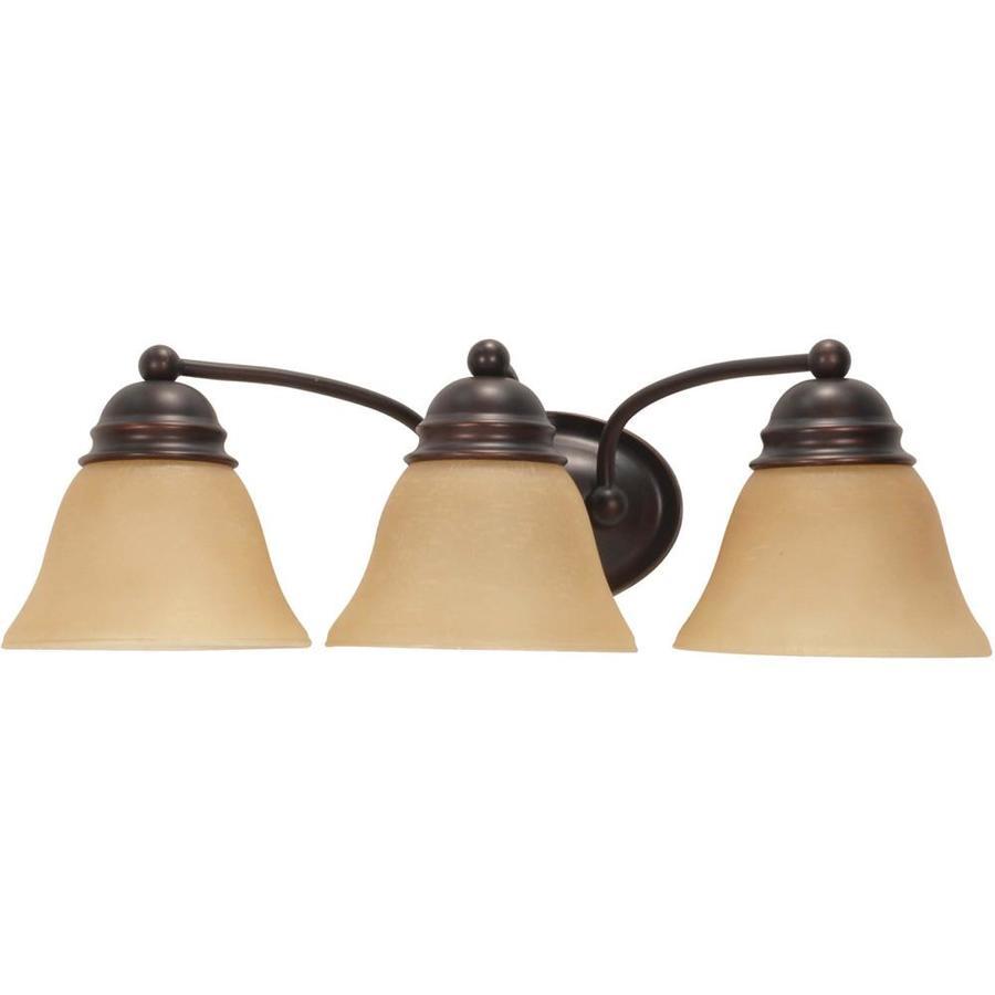 Empire 3-Light Mahogany Bronze Vanity Light