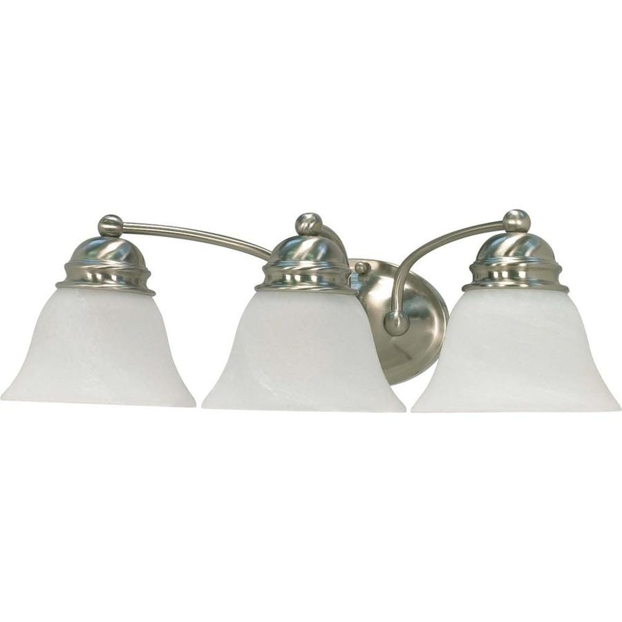 Vanity Lights In Brushed Nickel : Shop Empire 3-Light Brushed Nickel Vanity Light at Lowes.com