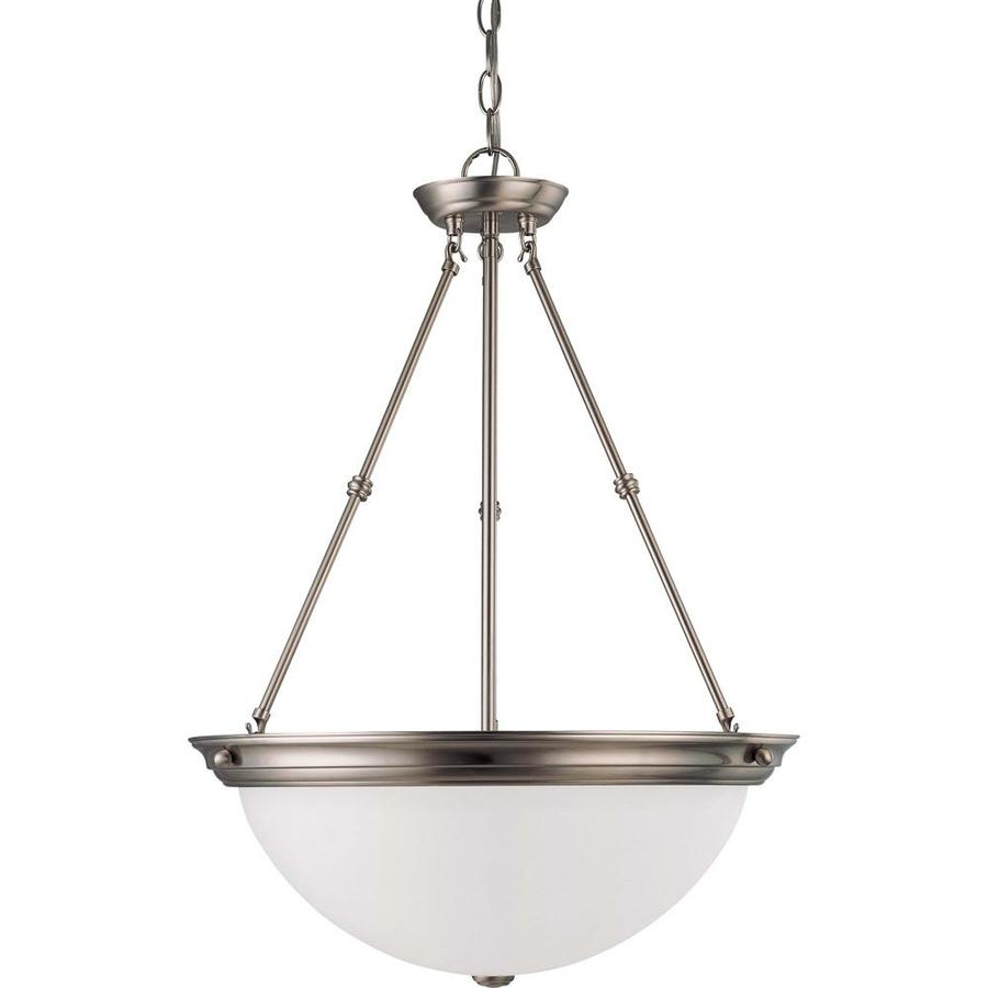 Odeon 20.5-in Brushed Nickel Single N/A Pendant