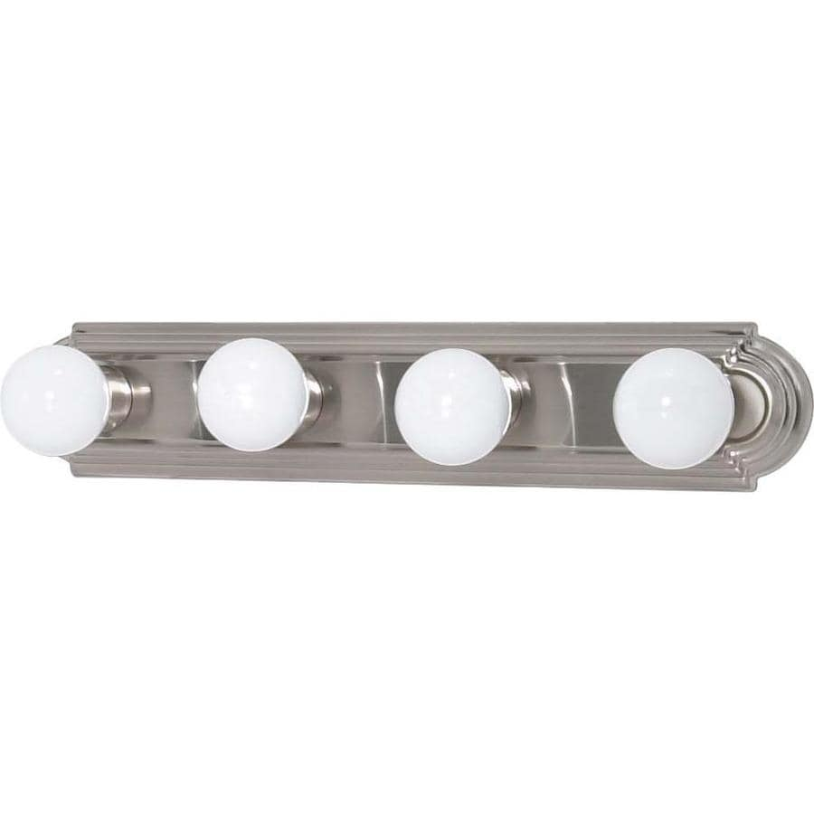 4 Light Vanity Brushed Nickel : Shop 4-Light Ballerina Brushed Nickel Bathroom Vanity Light at Lowes.com