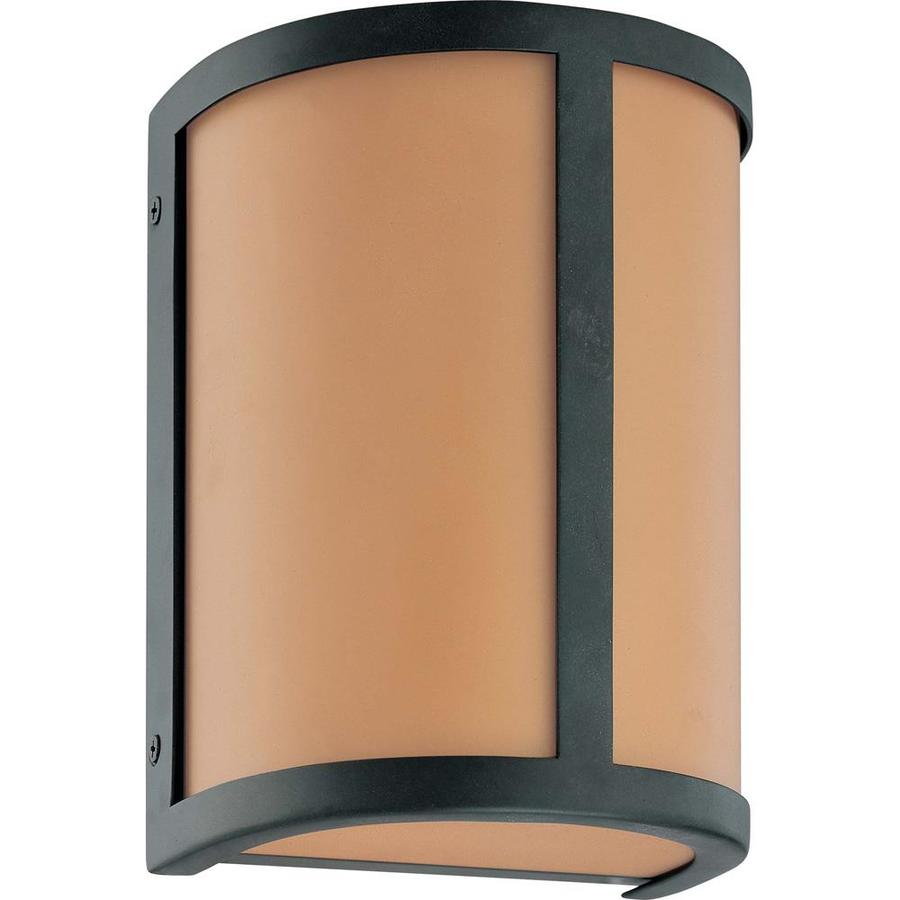 Odeon 10.75-in W 1-Light Aged Bronze Pocket Wall Sconce