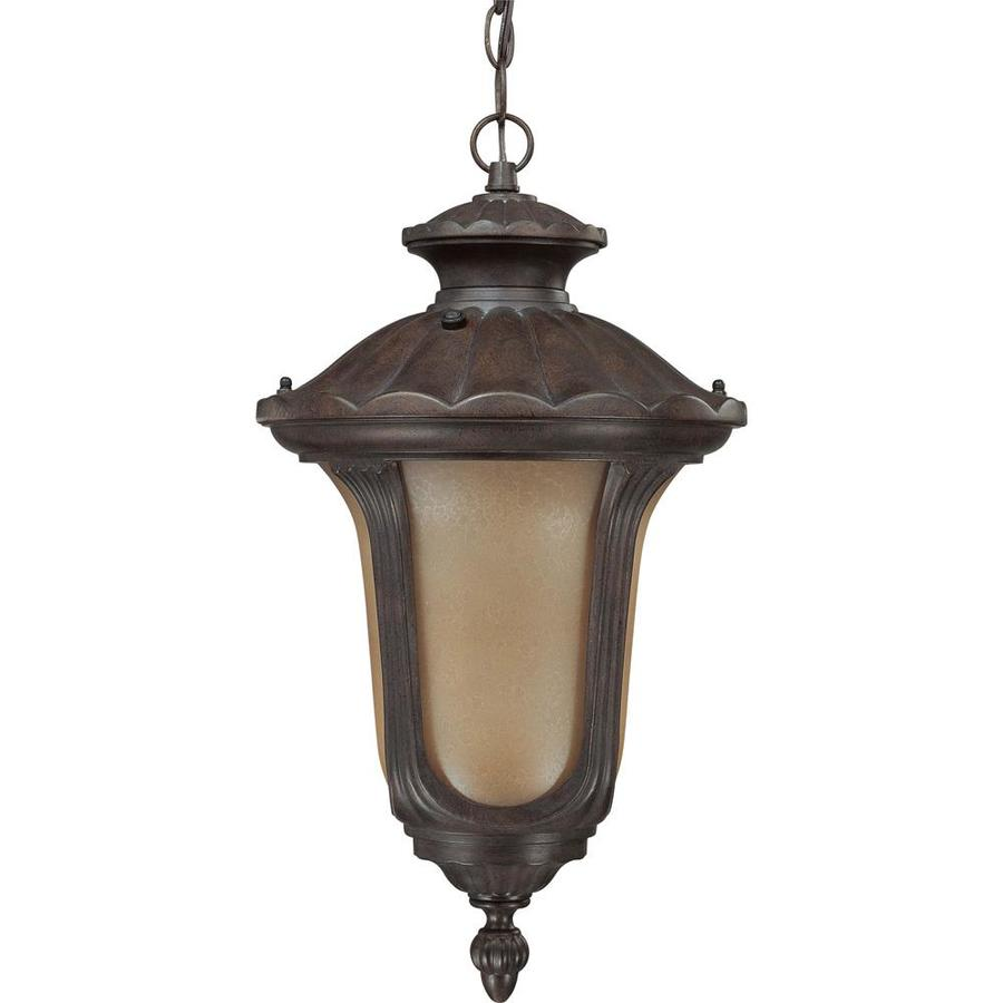 12.74-in W Fruitwood Bronze Outdoor Flush-Mount Light ENERGY STAR