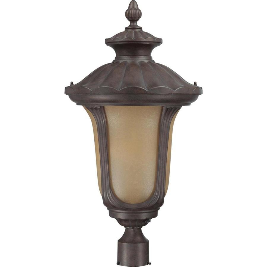 Beaumont 21.56-in H Fruitwood Bronze Complete Post Light