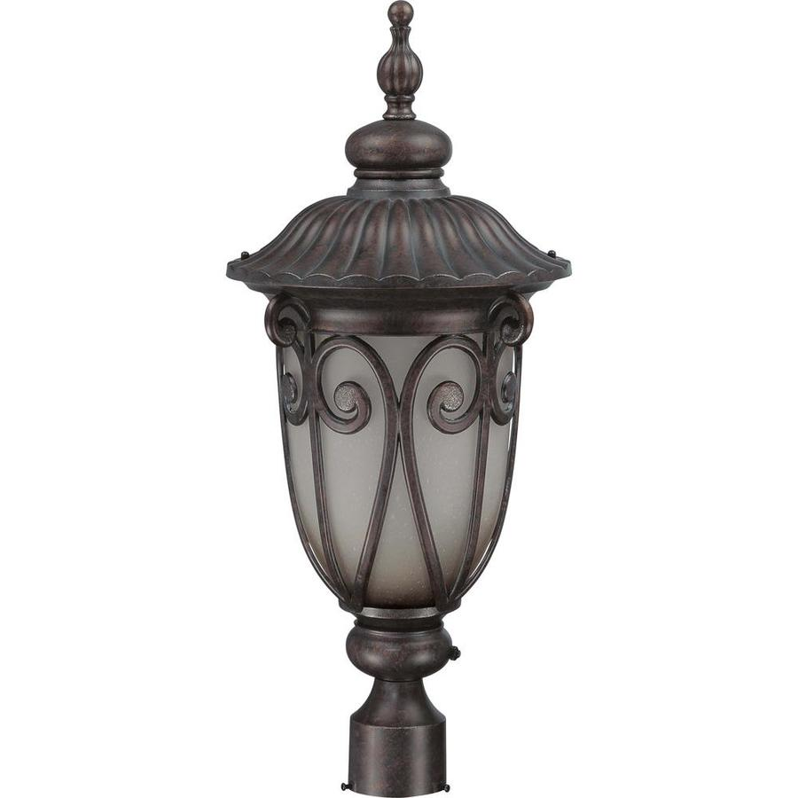 Corniche 23.03-in H Burlwood Bronze Complete Post Light