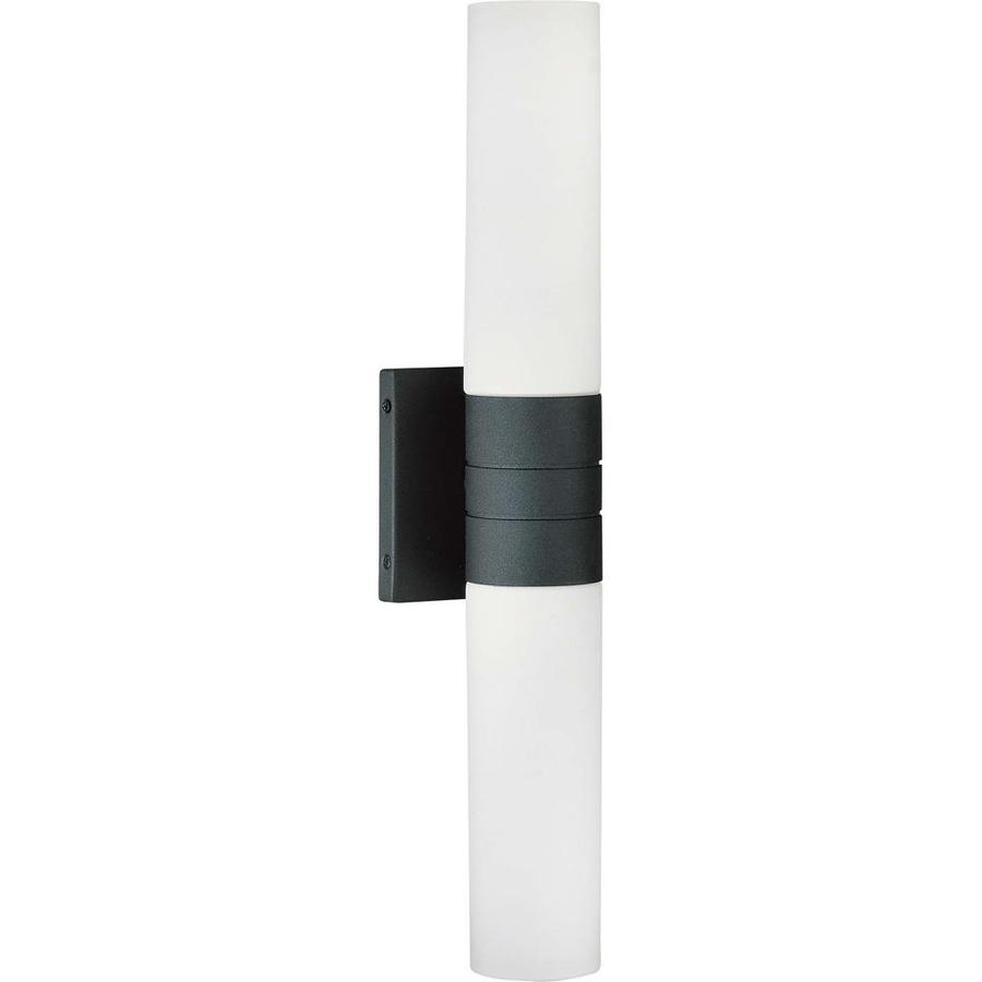 Link 13.26-in W 2-Light Textured Black Arm Wall Sconce