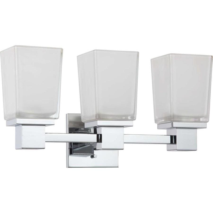 Bathroom Vanity Lights With Outlet : Shop 3-Light Polished Chrome Bathroom Vanity Light at Lowes.com