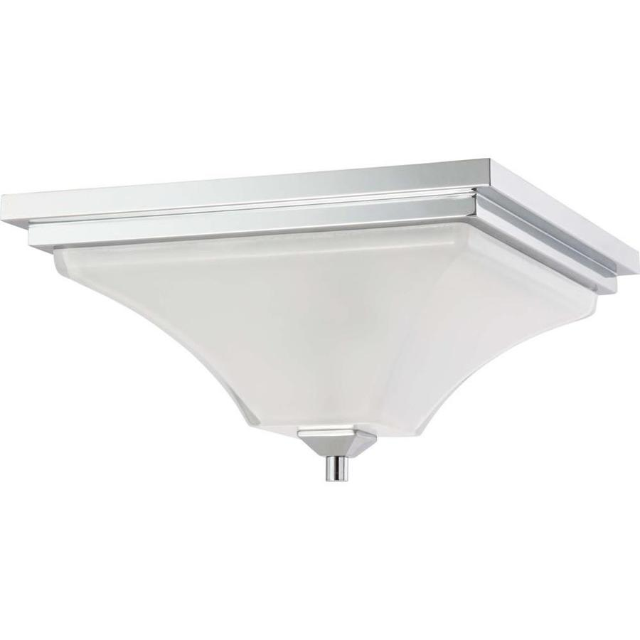 15.25-in W Polished Chrome Ceiling Flush Mount Light