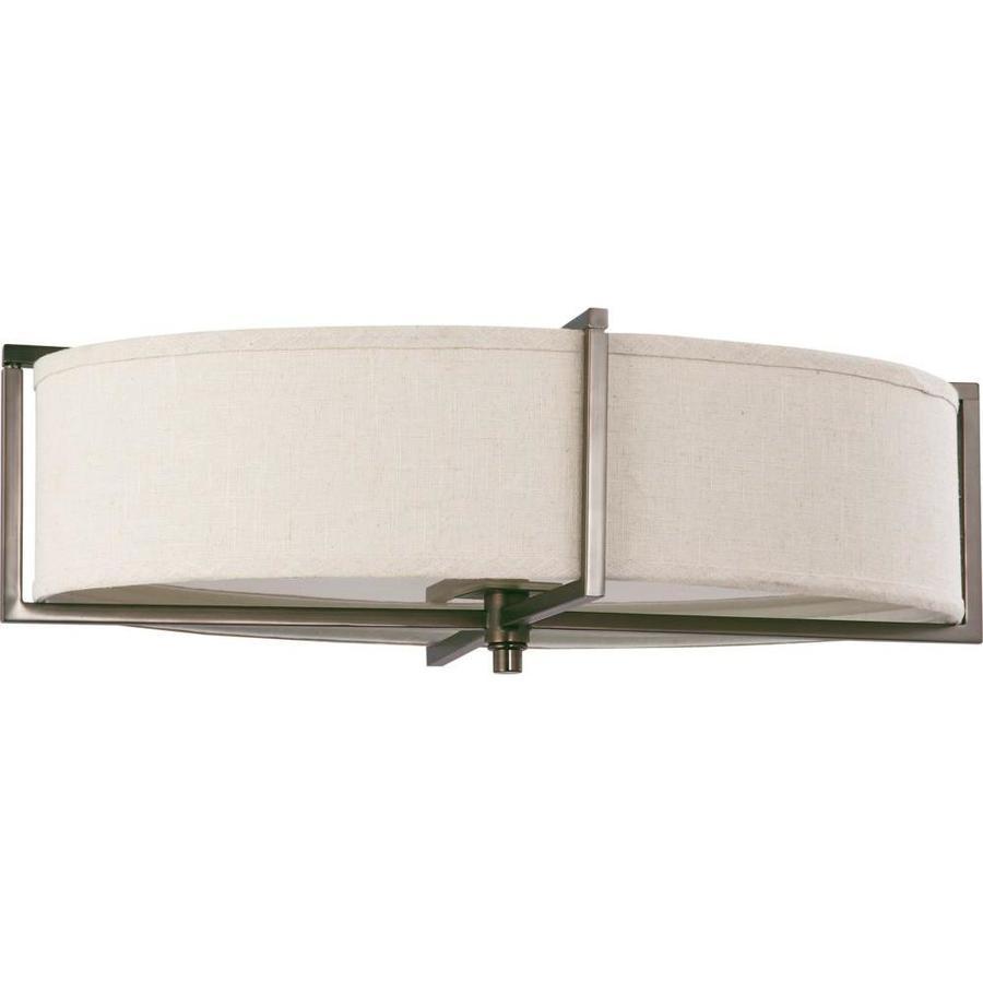 16-in W Hazel Bronze Ceiling Flush Mount Light