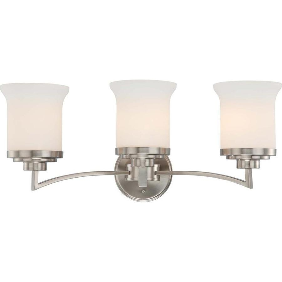 Harmony 2-Light Brushed Nickel Vanity Light