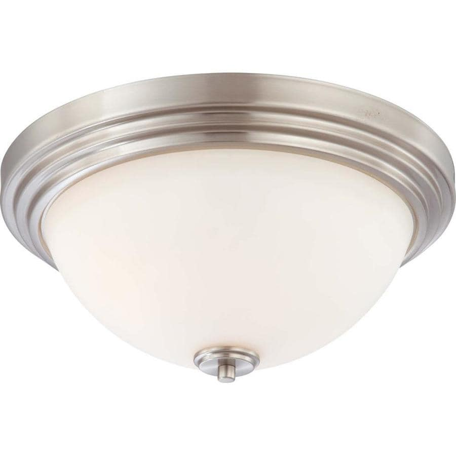 16.5-in W Brushed Nickel Ceiling Flush Mount Light