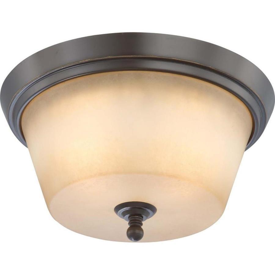 13-in W Vintage Bronze Ceiling Flush Mount Light