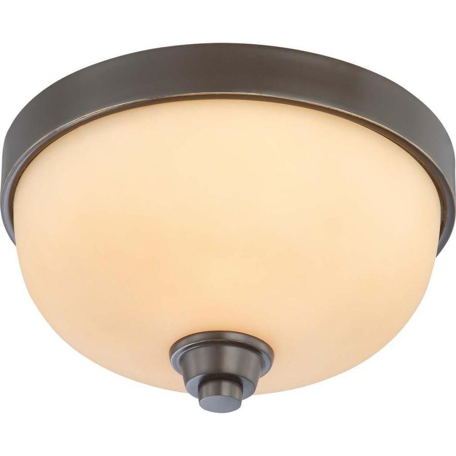 11.25-in W Vintage Bronze Ceiling Flush Mount Light