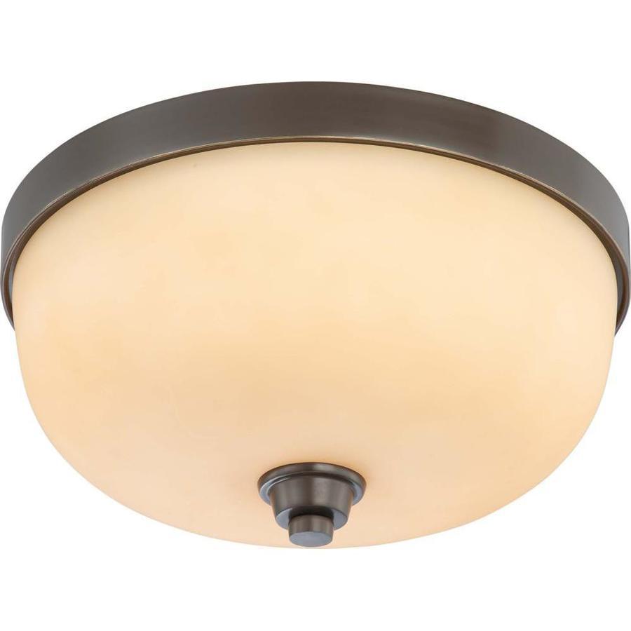 15-in W Vintage Bronze Ceiling Flush Mount Light