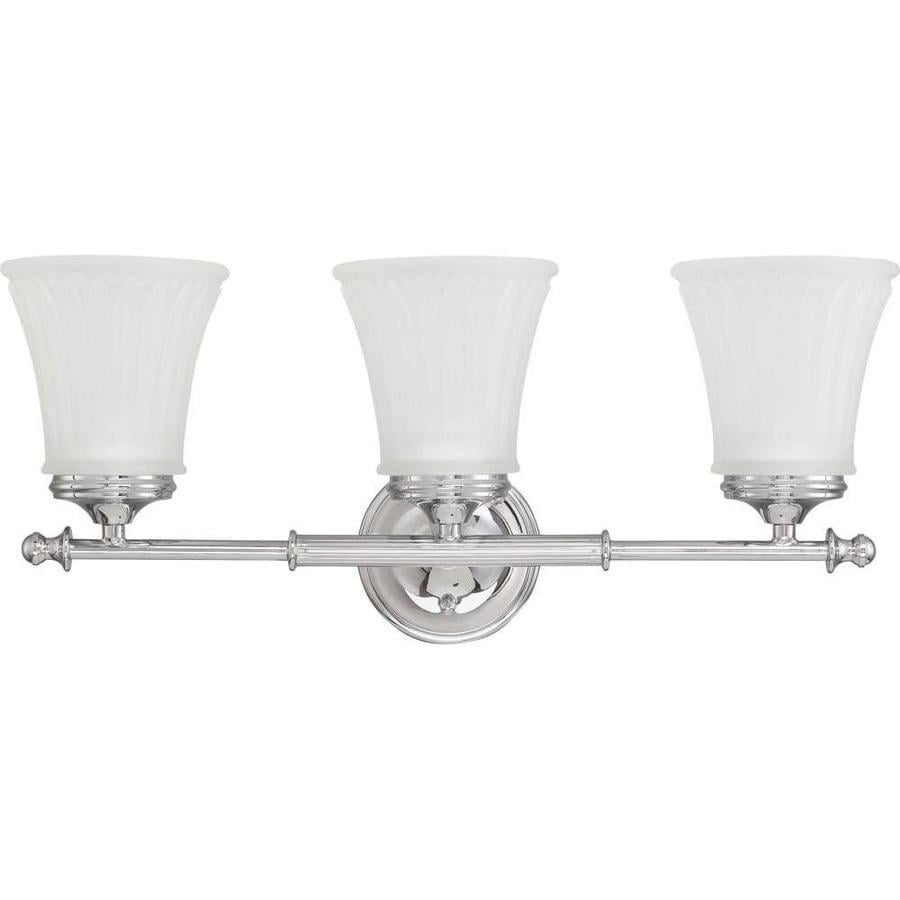 Bathroom Vanity Lights Polished Chrome : Shop 3-Light Teller Polished Chrome Bathroom Vanity Light at Lowes.com