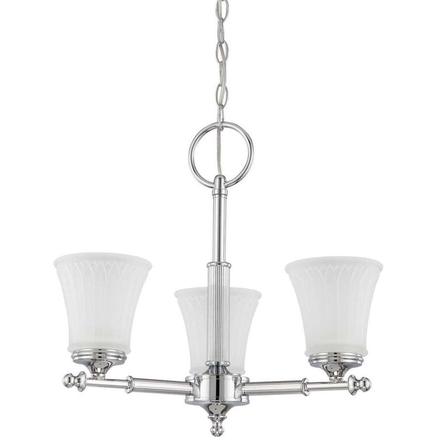 Teller 20-in 3-Light Polished Chrome Tinted Glass Candle Chandelier