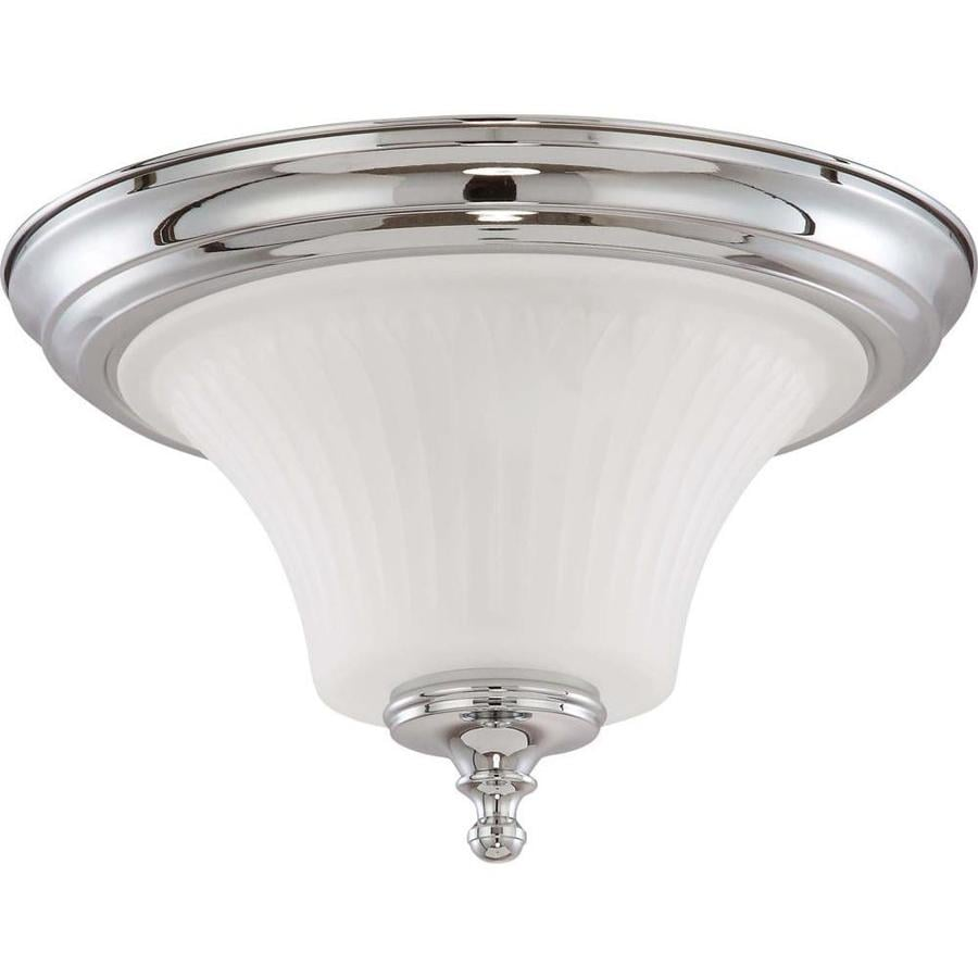 13.25-in W Polished Chrome Ceiling Flush Mount Light