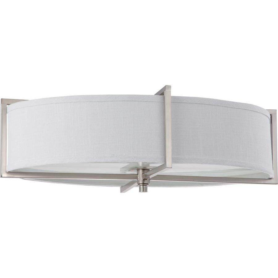 16-in W Brushed Nickel Ceiling Flush Mount Light