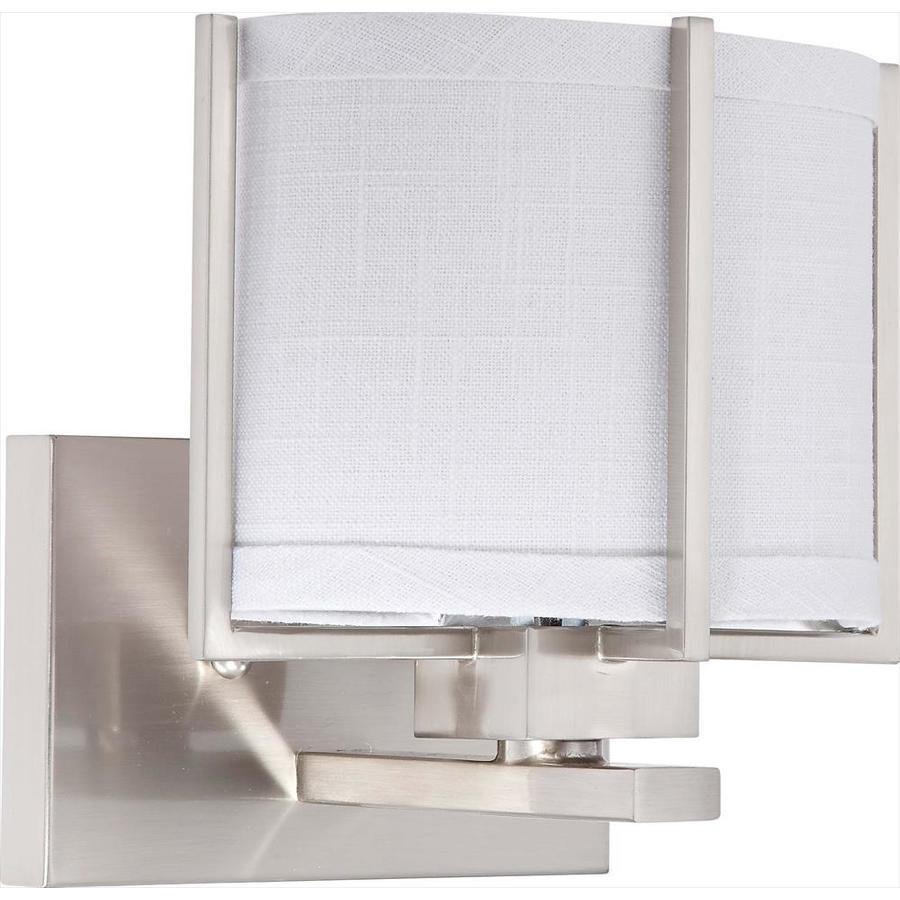 Portia 10.75-in W 1-Light Brushed Nickel Arm Wall Sconce