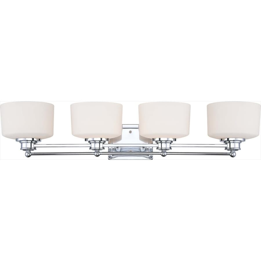 Shop soho 4 light polished chrome vanity light at for 4 light bathroom fixture