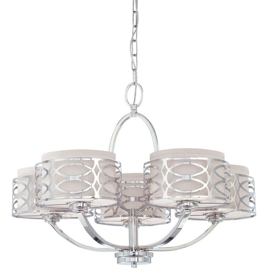 Harlow 27.75-in 5-Light Polished Nickel Candle Chandelier