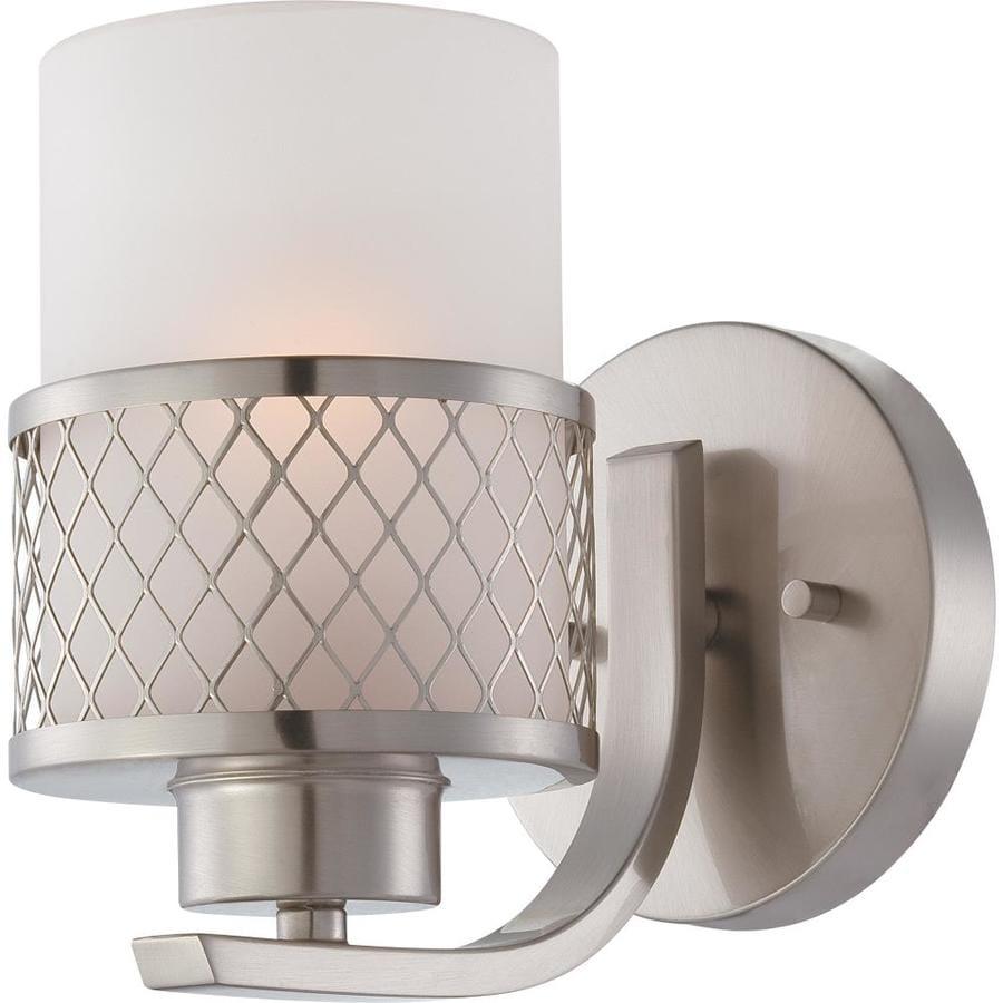 Fusion 1-Light Brushed Nickel Vanity Light