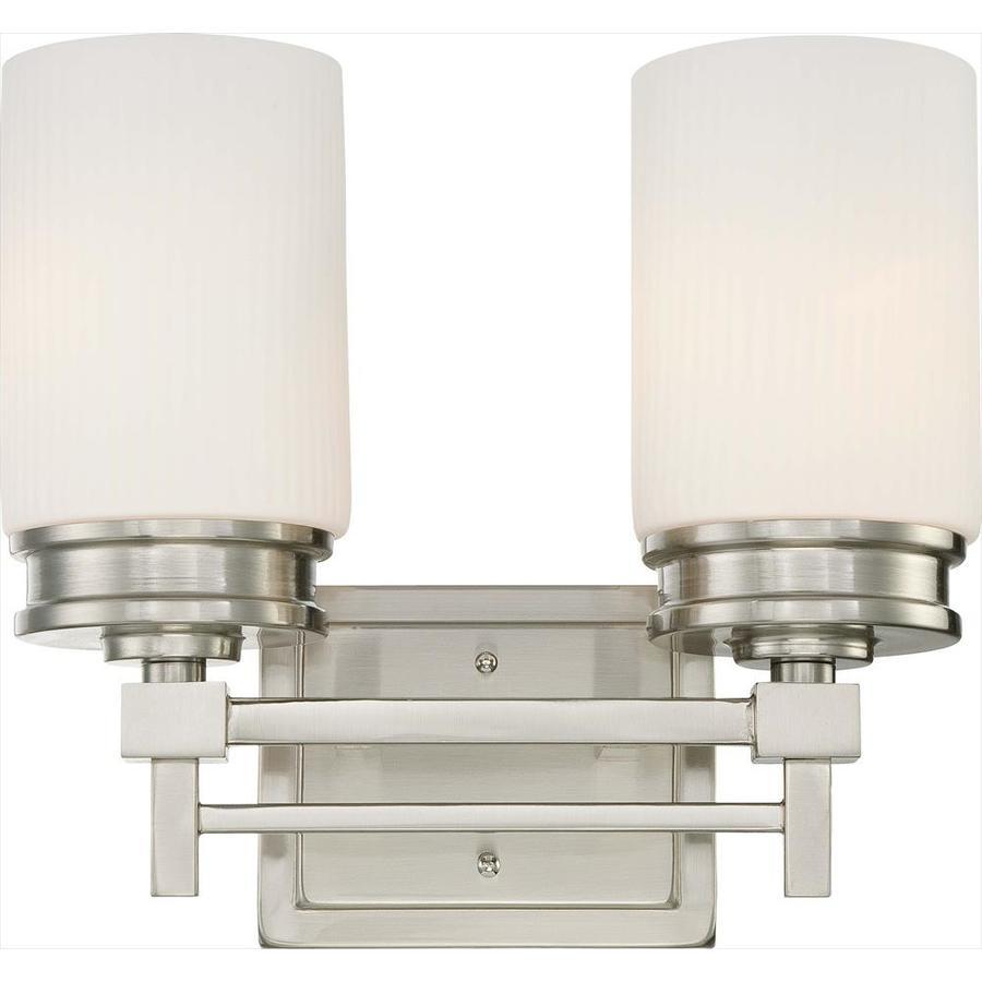 Wright 2-Light Brushed Nickel Vanity Light