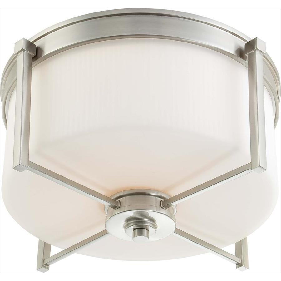 18.75-in W Brushed Nickel Ceiling Flush Mount Light