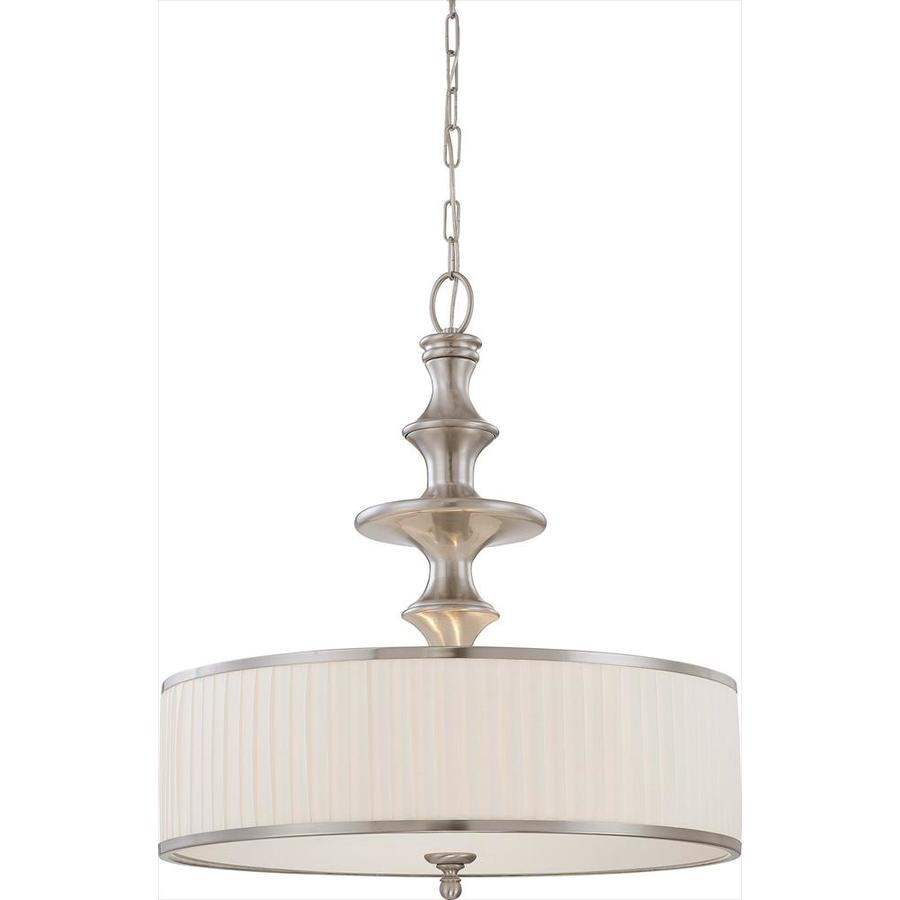 Candice 25.5-in Brushed Nickel Single N/A Pendant