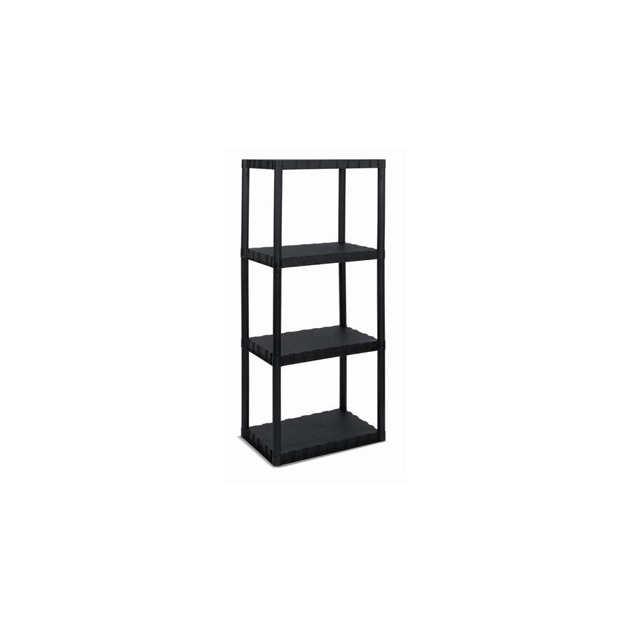 Blue Hawk 49-in H x 22-in W x 14-in D 4-Tier Plastic Freestanding Shelving Unit