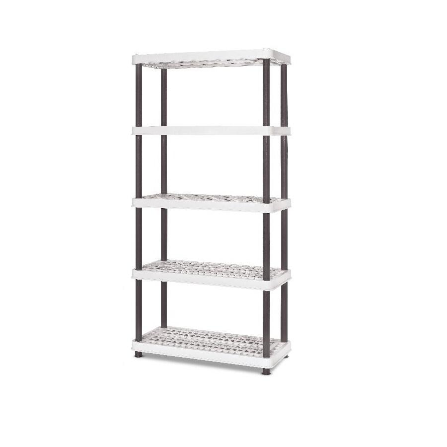 enviro elements 72-in H x 36-in W x 18-in D 5-Tier Plastic Freestanding Shelving Unit