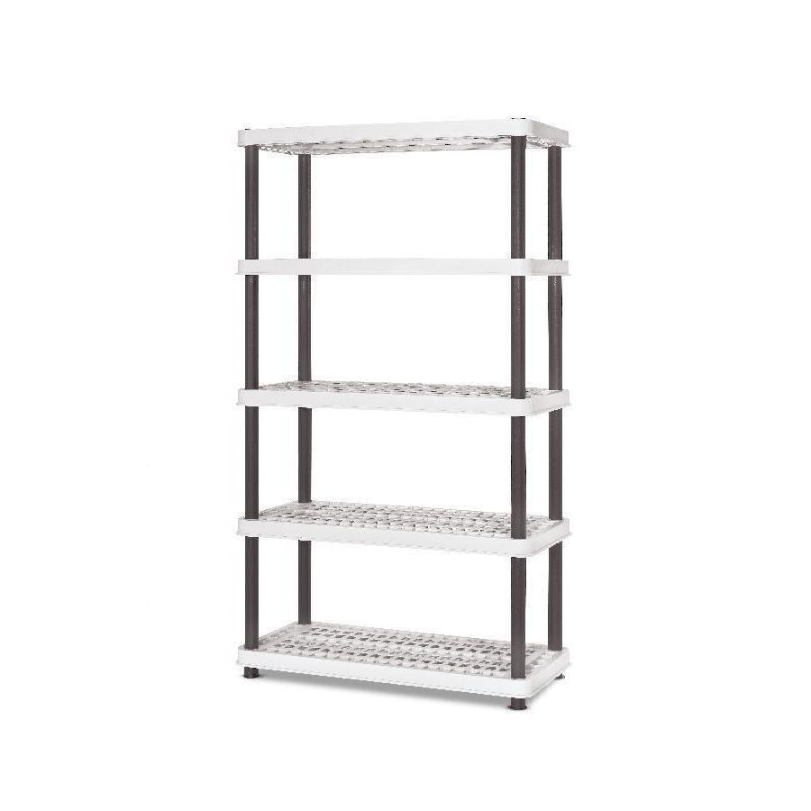 enviro elements 72-in H x 36-in W x 24-in D 5-Tier Plastic Freestanding Shelving Unit