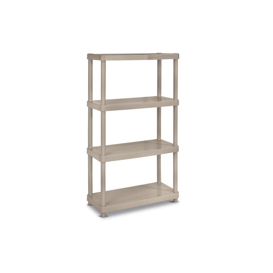 enviro elements 55-in H x 34-in W x 16-in D 4-Tier Plastic Freestanding Shelving Unit