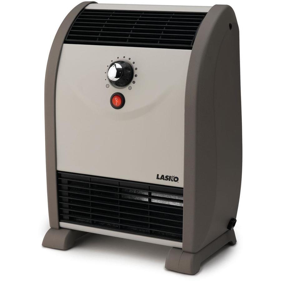 Lasko 2,558-BTU Ceramic Flat Panel Electric Space Heater with Thermostat