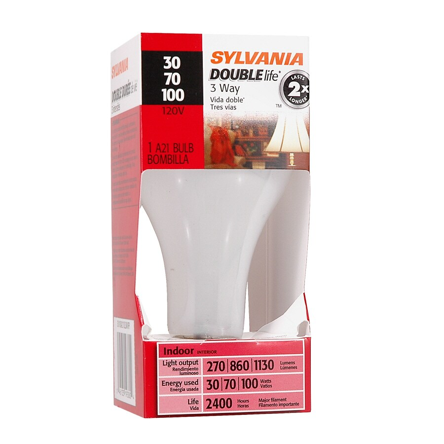 SYLVANIA 100-Watt A21 Medium Base (E-26) Soft White 3-Way Incandescent Light Bulb
