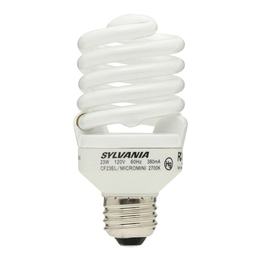 SYLVANIA 12-Pack 23-Watt (100W Equivalent) Spiral Medium Base Soft White CFL Bulbs ENERGY STAR