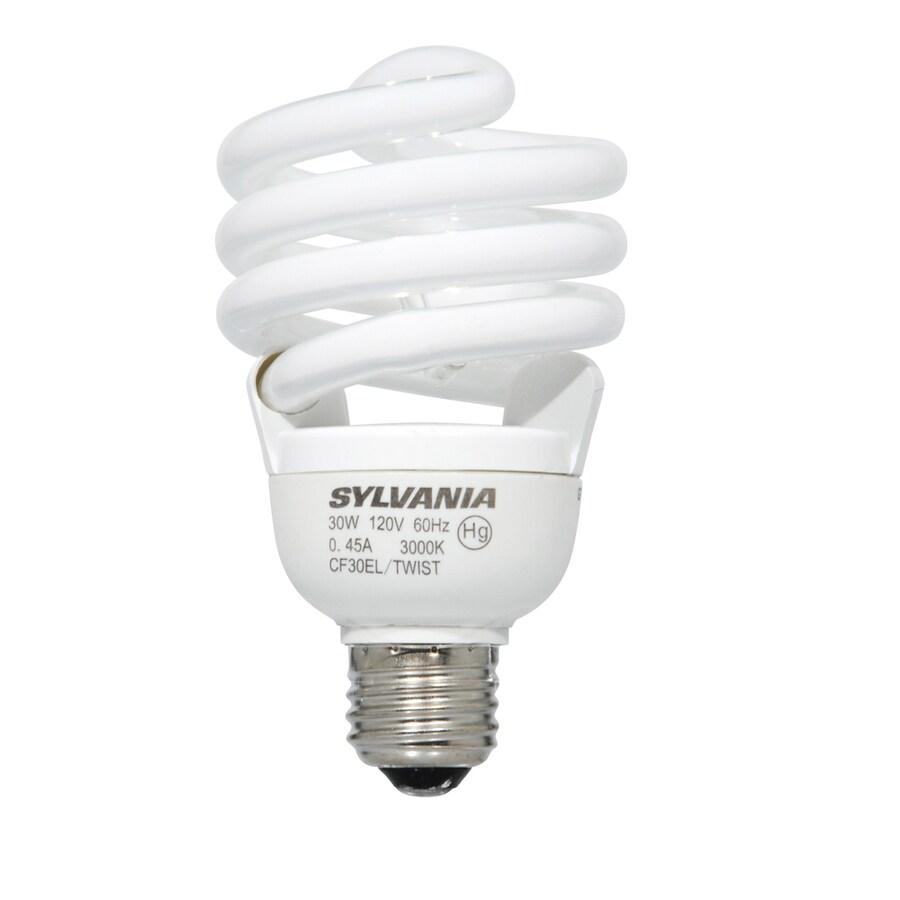 SYLVANIA 6-Pack 30-Watt (125W Equivalent) Spiral Medium Base Soft White CFL Bulbs ENERGY STAR